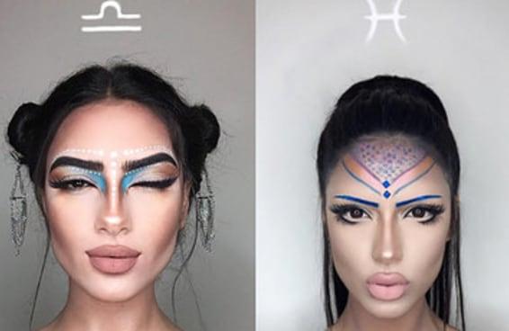 Este post é para amantes da maquiagem E do horóscopo