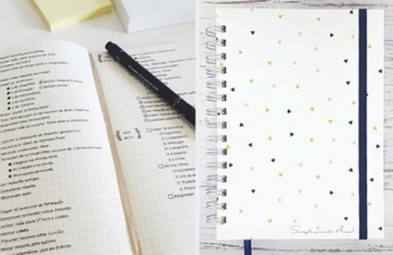 8 cadernos para começar um diário em tópicos