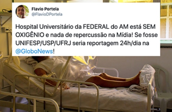 Médicos de Manaus pedem ajuda pelas redes sociais