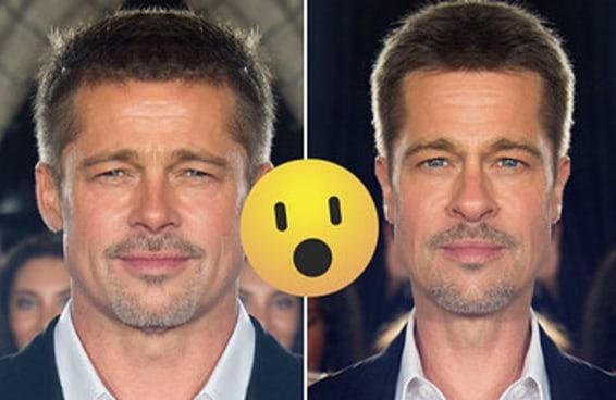 Se os rostos das celebridades fossem perfeitamente simétricos, eles seriam assim