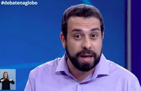 Boulos fez um discurso contra a ditadura no debate de Globo e foi aplaudido no estúdio e na internet
