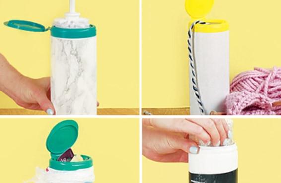 Transforme uma embalagem de lenços umedecidos em um herói doméstico
