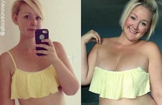 As fotos de antes e depois desta mãe são muito inspiradoras