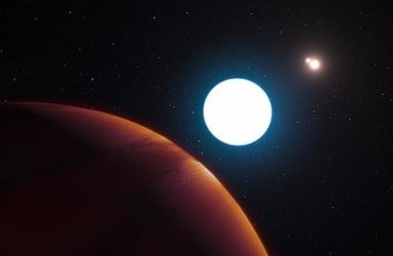 Esta é a aparência de um planeta com três sóis