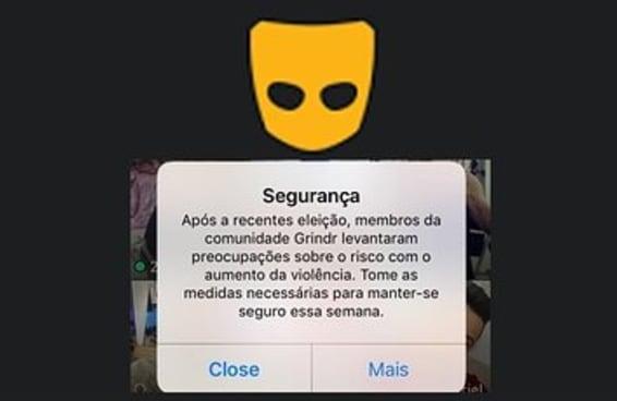 Grindr colocou avisos de segurança para proteger usuários de ataques homofóbicos