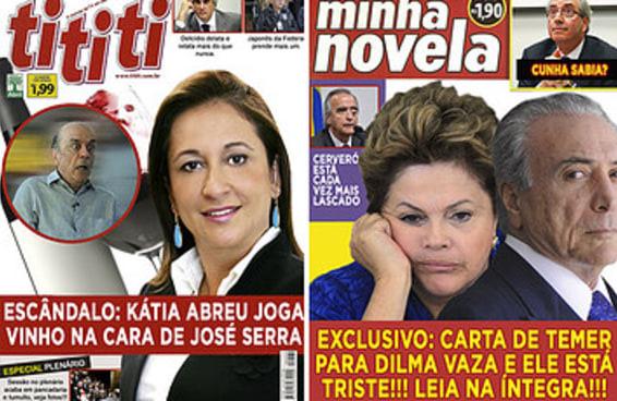 E se os escândalos políticos fossem parar na capa das revistas de fofoca?