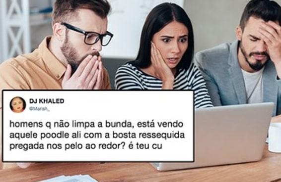 O brasileiro está chocado com homens que não limpam a bunda