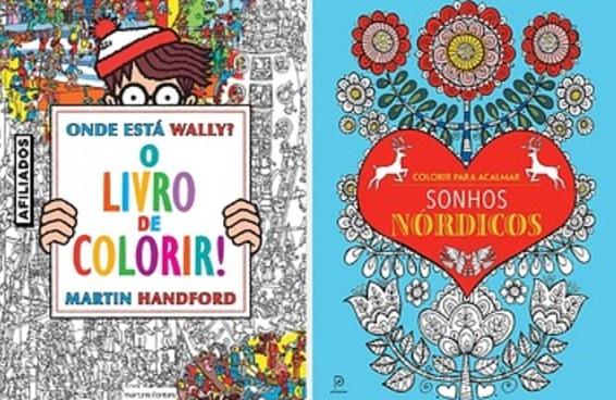 11 livros para colorir com desenhos de gatinhos, vitrais, zumbis e mais