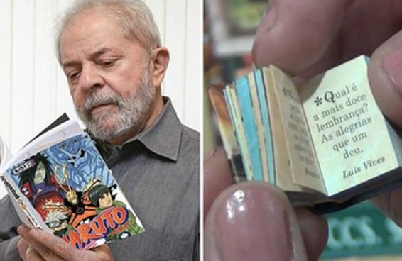 Parece que o Lula está lendo pra caramba na prisão