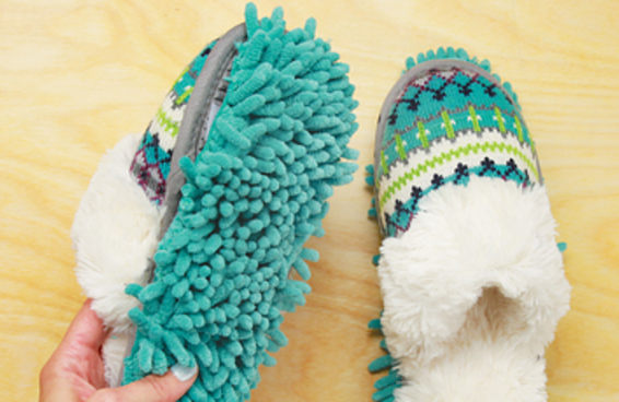 Limpe sua casa confortavelmente com estas pantufas de limpeza