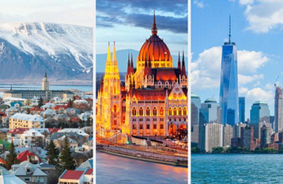 Tente adivinhar quais são essas cidades a partir do panorama urbano delas.