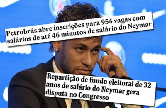 """Uma extensão para Chrome está convertendo R$ para """"salário do Neymar"""""""
