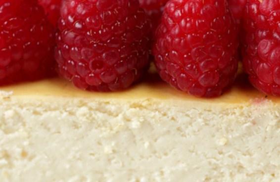 Esta versão de cheesecake de framboesa é ótima para quem está de dieta