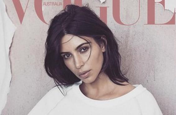 A nova capa da Vogue Austrália com Kim Kardashian é maravilhosa