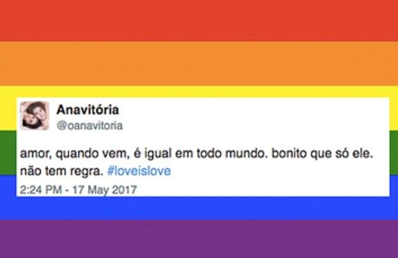 22 tuítes para celebrar o amor no Dia Internacional contra a Homofobia