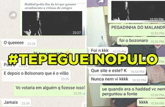 A hashtag #TePegueiNoPulo zerou o bingo de desculpas de eleitores do Bolsonaro
