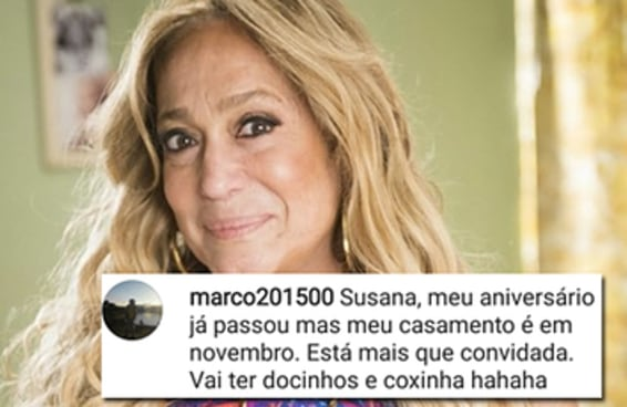 Depois do aniversário da Tatá Werneck, Susana Vieira tem recebido muitos convites