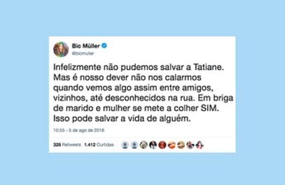 """O caso da Tatiane fez as pessoas lembrarem como é importante """"meter a colher"""" em briga de casal"""