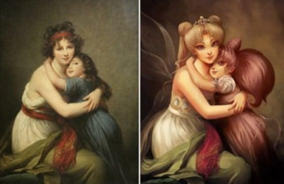 Este artista recriou pinturas famosas com personagens de desenho animado