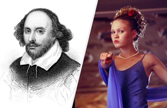 Você sabe se estes filmes são baseados em obras de Shakespeare?