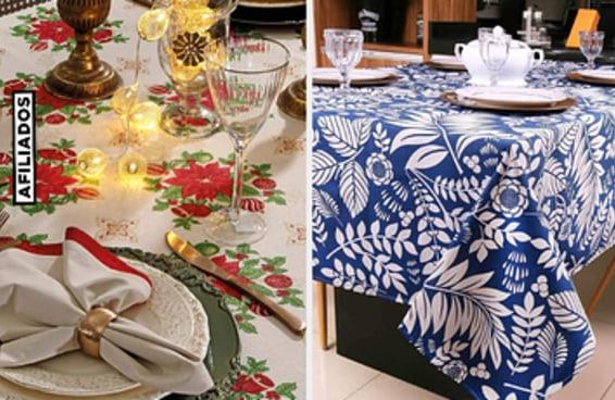 13 toalhas para deixar a sua mesa de fim de ano mais arrumada