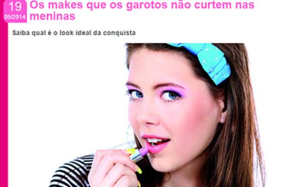 """Os comentários no site da Atrevida acabaram com a matéria """"makes que garotos não curtem"""""""