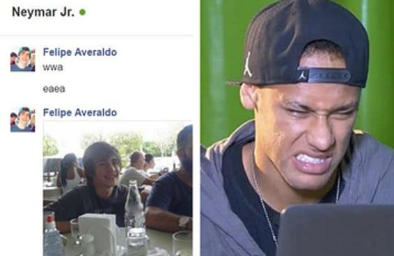 Felipe usava o Facebook do Neymar para salvar links até que o jogador visualizou