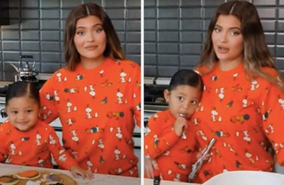Estou achando Kylie Jenner uma ótima mãe depois de ver o vídeo da Stormi fazendo cookies