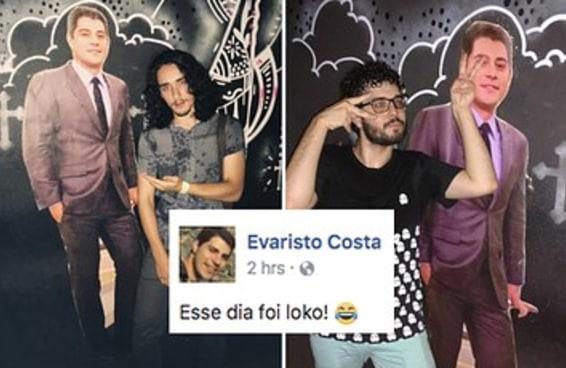 O Evaristo foi tema de uma festa em Porto Alegre e adorou
