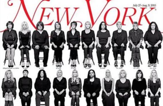 Capa da New York Magazine traz mulheres que acusam Bill Cosby de estupro