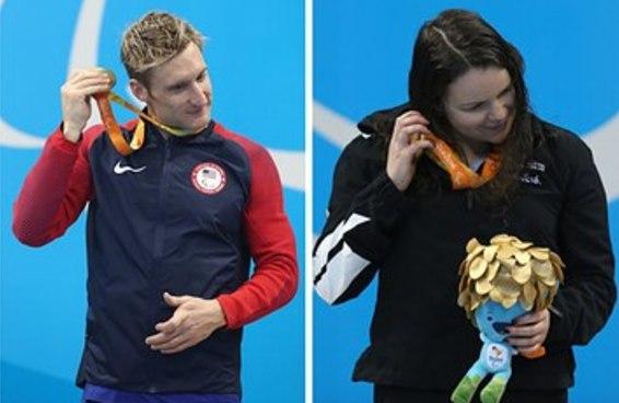 Pela primeira vez atletas paralímpicos conseguem ouvir suas medalhas