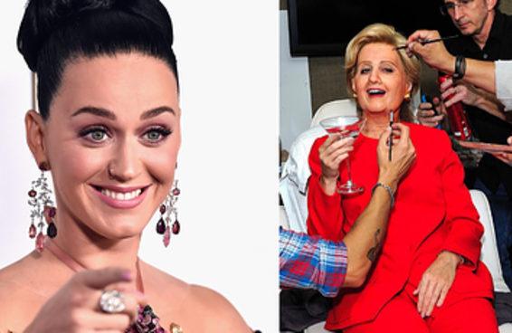 A Katy Perry ficou irreconhecível como Hillary Clinton no Halloween