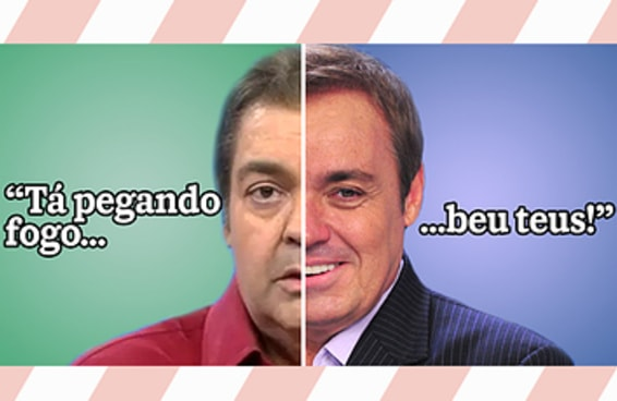 Todo mundo é a mistura de dois apresentadores clássicos da TV brasileira