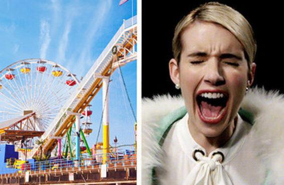 Descobriremos seu medo mais secreto baseados no seu dia em um parque de diversões