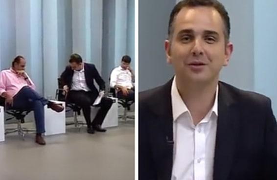 Um candidato a prefeito de BH ficou preso na cadeira durante o debate
