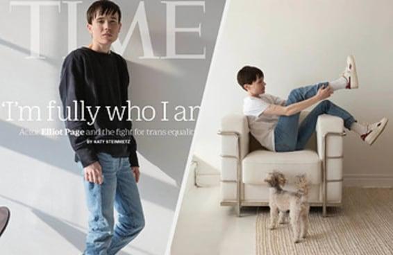Elliot Page falou sobre se assumir trans publicamente em sua entrevista para a Time