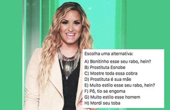 O que você acha que a Demi Lovato está dizendo neste gif?