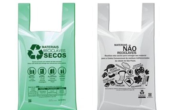 Porque as sacolas do comércio de São Paulo agora tem duas cores?