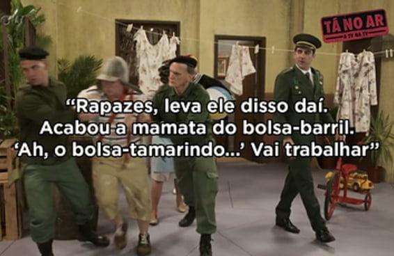 """O """"Tá no Ar"""" parodiou """"Chaves"""" para criticar o Bolsonaro e o pessoal ficou de cara"""