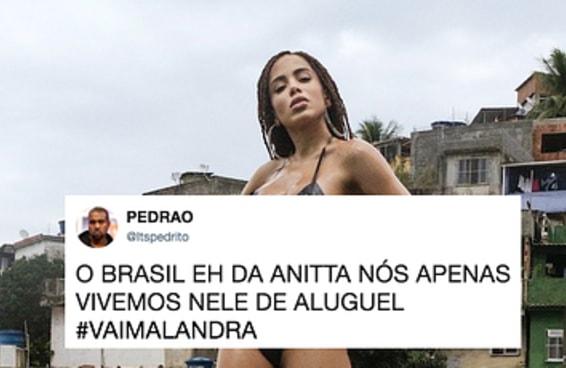 """22 tuítes sobre """"Vai Malandra"""" para você ter uma ideia do que a Anitta causou com o clipe novo"""