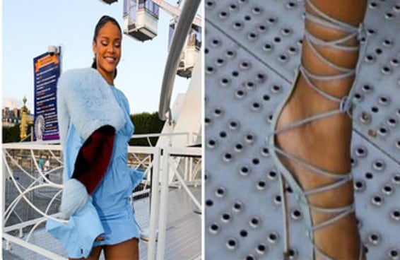 Rihanna andou de salto sobre uma grade sem cair simplesmente porque ela é Rihanna