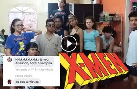 Estes adolescentes do Amazonas recriaram a abertura de X-Men Evolution e ficou bom demais