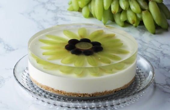 Cheesecake espelhado de uva