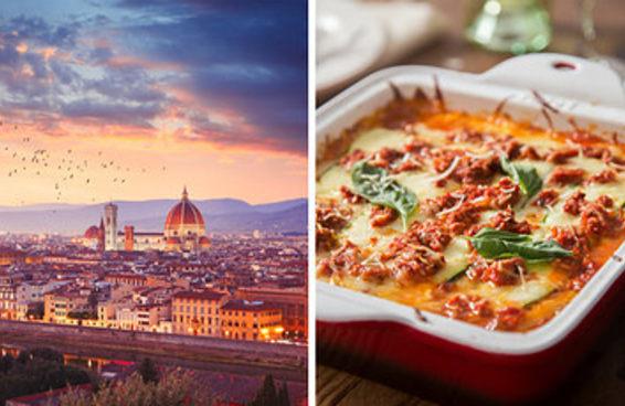 Escolha suas comidas italianas preferidas e diremos qual cidade da Itália você deve visitar