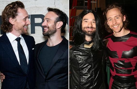 Tom Hiddleston e Charlie Cox se vestiram como os personagens da Marvel um do outro