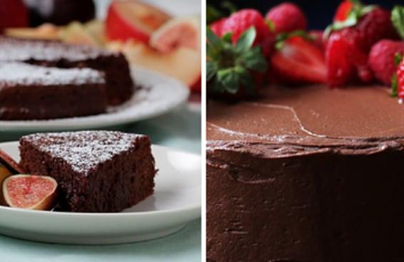 Duas receitas deliciosas de bolo de chocolate para quem ama bolo