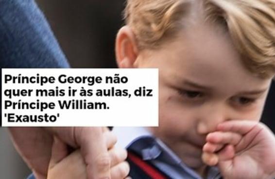Parece que o Príncipe George está exausto desde que nasceu
