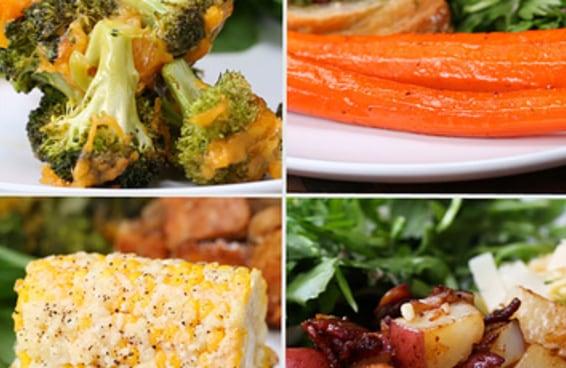 4 Acompanhamentos com vegetais que levam apenas 3 ingredientes