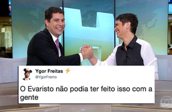 """A season finale do """"Jornal Hoje"""" com o Evaristo está despedaçando corações"""