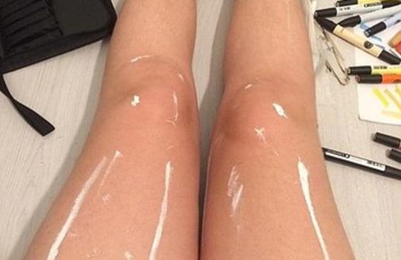 As pessoas ficaram doidas na internet com a foto destas pernas